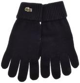 Lacoste Merino Wool Ribbed Gloves Navy