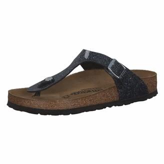 Birkenstock Tongs Gizeh Birko-flor Cosmic Sparkle Anthracite Womens Sandal
