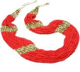Amrita Singh Coral Boho Beaded Necklace