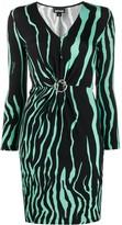 Just Cavalli zebra print fitted dress