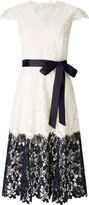 Jacques Vert Contrast Lace Border Dress