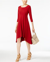 Alfani Knit Handkerchief-Hem Dress, Only at Macy's