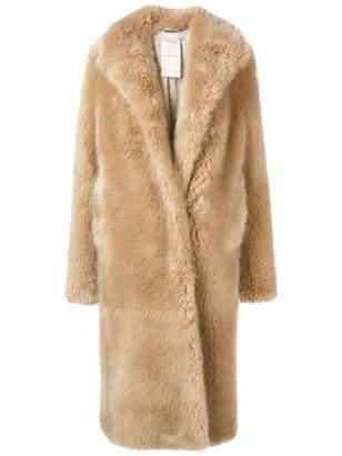 Stella McCartney Short Faux Fur Long Coat