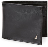 Nautica Black Leather Passcase Wallet