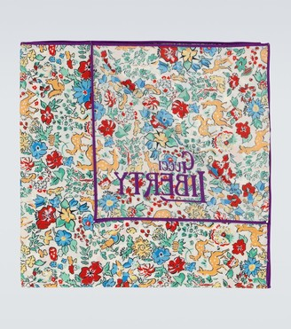 Gucci Liberty floral pocket square