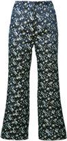 Erdem Jeda cropped trousers - women - Silk/Polyester - 8