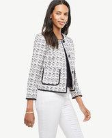 Ann Taylor Petite Textured Tweed Jacket