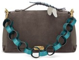 Anya Hindmarch Bathurst Dragonfly Detail Leather & Suede Satchel - Grey
