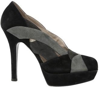 Ernesto Esposito Black Suede Heels