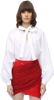 Sara Battaglia Baloon Cotton Poplin Shirt