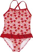 Playshoes Girl's UV Sun Protection Bathing Suit Strawberries Swimsuit,7 Years (Manufacturer Size:122/128 (7-8 Years))