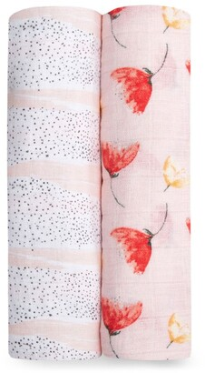 Aden Anais aden + anais Poppies Muslin Swaddle (Pack of 2)