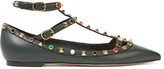 Valentino Rockstud embellished leather point-toe flats