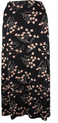 Alex & Co Black Abstract Floral Elasticated Waist A-Line Skirt. RRP: 50. Sizes 10-20. (20)