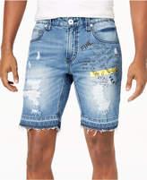 INC International Concepts I.N.C. Men's Scribble Denim Shorts, Created for Macy's