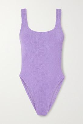 Hunza G Seersucker Swimsuit - Lilac