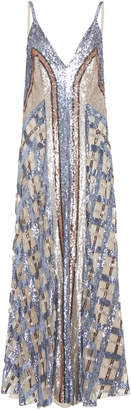 Temperley London Akiko Strappy Sequin Organza Dress