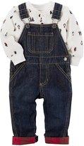 Carter's Baby Boys' 2 Piece Penguin Bodysuit and Overalls Set