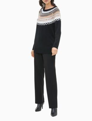 Calvin Klein Fair Isle Crewneck Sweater