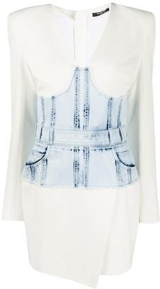 Balmain denim corset dress