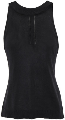 Chalayan Pointelle-trimmed Cotton-blend Top