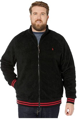 Polo Ralph Lauren Big & Tall Big Tall Vintage Sherpa Long Sleeve Jacket (Polo Black) Men's Coat