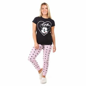 Disney Women's MICKEY LOVE KISS Pajama Set