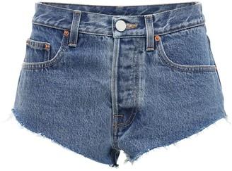 Vetements Haute Couture Cotton Denim Hot Pants