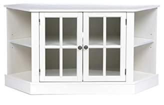 Thomas Laboratories Corner Media Stand - Center Storage Area w/Adjustable Shelf - Finish
