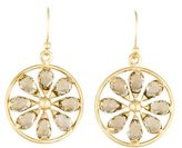 Elizabeth Showers 18K Smoky Quartz Pinwheel Earrings