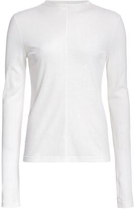 Helmut Lang Semi Sheer Long Sleeve T-Shirt
