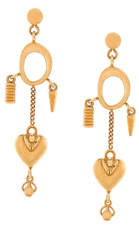 Chloé Collected Hearts charm earrings