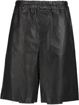 Golden Goose Deluxe Brand Dany leather and silk shorts