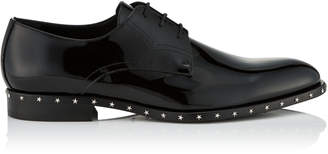 Jimmy Choo AXEL Black Patent Leather Lace Up Shoes
