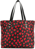 RED Valentino hearts print shopping tote bag