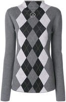 Stella McCartney argyle turtle neck sweater