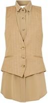 Burberry shirt insert waistcoat