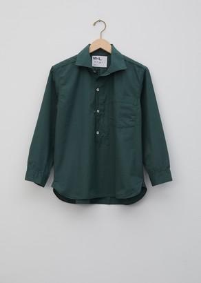Mhl By Margaret Howell Cotton Asymmetric Collard Shirt