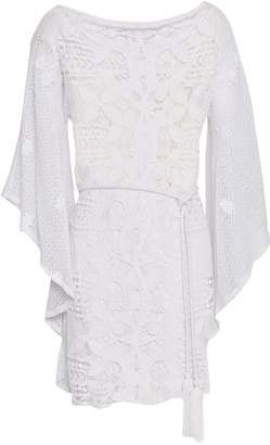 Miguelina Macrame Cotton Mini Dress