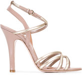 RED Valentino gold-tone detail buckled sandals - women - Calf Leather/Leather - 35