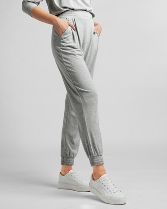 Express Super High Waisted Silky Sueded Jersey Joggers
