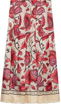 Gucci Silk skirt with watercolor flower print