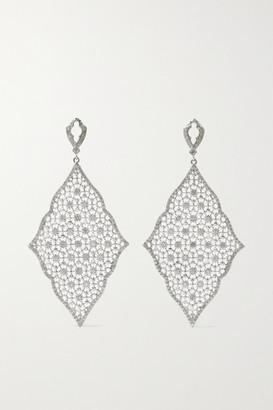 Loree Rodkin Moroccan Lace Kite 18-karat White Gold Diamond Earrings