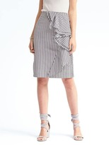 Banana Republic Ruffle Stripe Pencil Skirt