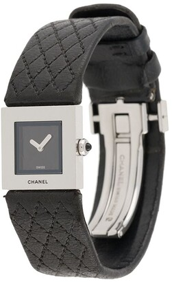 Chanel Pre Owned 1990s Pre-Owned Diamond-Quilted Watch