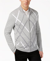 Alfani Men's Pattern Zip-Front Cardigan, Only at Macy's