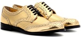 Dolce & Gabbana Metallic leather Derby shoes