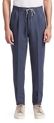Brunello Cucinelli Men's Drawstring Suit Trousers