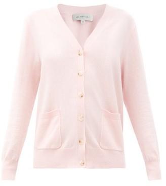 Lee Mathews V-neck Cotton-blend Cardigan - Pink