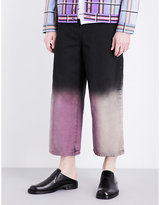J.w. Anderson Acid Dip Wide-leg Cropped Jeans